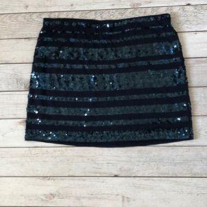 NWT Navy Express Sequin Skirt